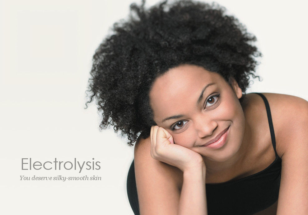 Electrolysis is permanent hair removal for curly or coarse hair